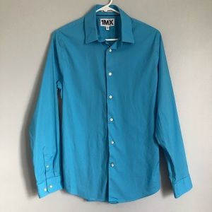Men's Blue Express Dress Shirt